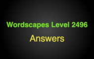Wordscapes Level 2496 Answers