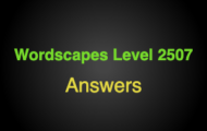 Wordscapes Level 2507 Answers