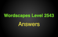 Wordscapes Level 2543 Answers