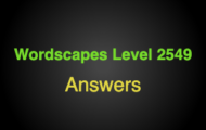 Wordscapes Level 2549 Answers