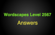 Wordscapes Level 2567 Answers