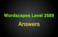 Wordscapes Level 2589 Answers