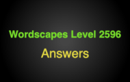 Wordscapes Level 2596 Answers