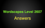 Wordscapes Level 2607 Answers