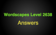 Wordscapes Level 2638 Answers