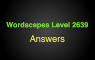 Wordscapes Level 2639 Answers