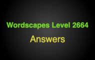 Wordscapes Level 2664 Answers