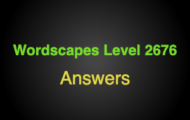 Wordscapes Level 2676 Answers