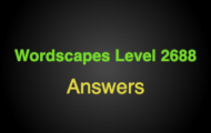 Wordscapes Level 2688 Answers
