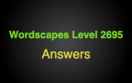 Wordscapes Level 2695 Answers