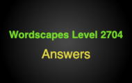 Wordscapes Level 2704 Answers