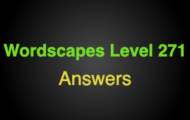 Wordscapes Level 271 Answers