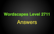 Wordscapes Level 2711 Answers