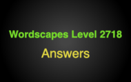 Wordscapes Level 2718 Answers