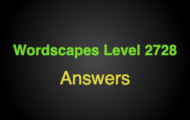 Wordscapes Level 2728 Answers