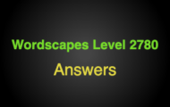 Wordscapes Level 2780 Answers
