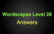 Wordscapes Level 28 Answers