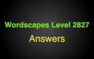 Wordscapes Level 2827 Answers
