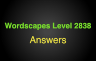 Wordscapes Level 2838 Answers