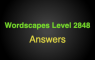 Wordscapes Level 2848 Answers