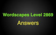Wordscapes Level 2869 Answers