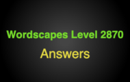 Wordscapes Level 2870 Answers