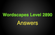 Wordscapes Level 2890 Answers
