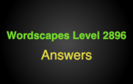 Wordscapes Level 2896 Answers