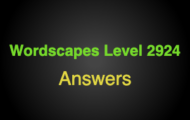 Wordscapes Level 2924 Answers