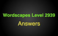 Wordscapes Level 2939 Answers