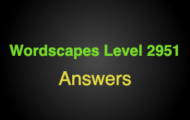 Wordscapes Level 2951 Answers