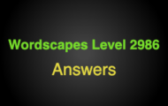Wordscapes Level 2986 Answers