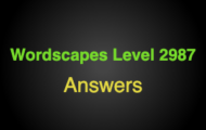 Wordscapes Level 2987 Answers