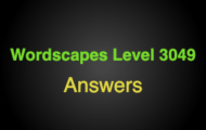 Wordscapes Level 3049 Answers