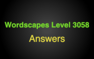 Wordscapes Level 3058 Answers