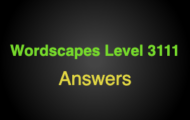 Wordscapes Level 3111 Answers