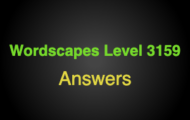 Wordscapes Level 3159 Answers