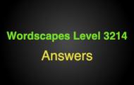 Wordscapes Level 3214 Answers