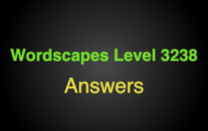 Wordscapes Level 3238 Answers