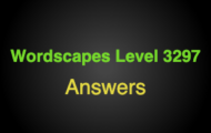Wordscapes Level 3297 Answers