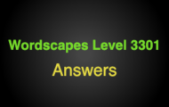 Wordscapes Level 3301 Answers