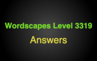 Wordscapes Level 3319 Answers