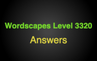 Wordscapes Level 3320 Answers