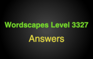 Wordscapes Level 3327 Answers