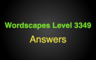 Wordscapes Level 3349 Answers