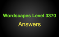 Wordscapes Level 3370 Answers