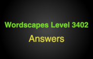 Wordscapes Level 3402 Answers