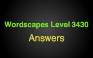 Wordscapes Level 3430 Answers