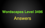 Wordscapes Level 3496 Answers