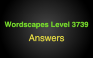 Wordscapes Level 3739 Answers
